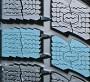 Большие блоки протектора с зубчатыми краями