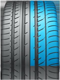 Внешняя часть шины - улучшенные характеристики при прохождении поворотов